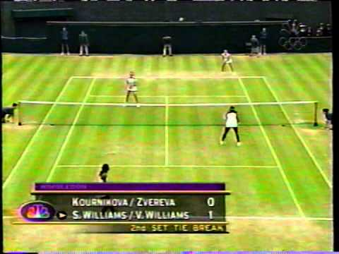 2000 Wimbledon doubles SF - Serena/Venus vs Kournikova/Zvereva