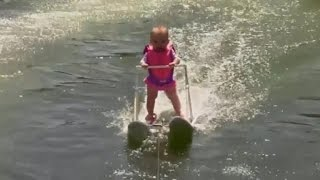 Watch: 6-month-old breaks record for youngest water skier