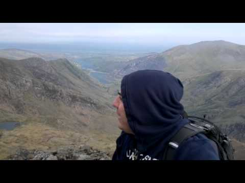 A view from the top of crib goch in snowdonia