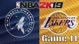 NBA 2K19 My Ligue : Game 11 LAKERS VS TIMBERWOLVES