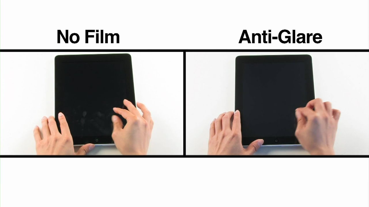 Ipad anti glare film comparison youtube for Film anti effraction fenetre