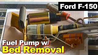 1999 Ford F150 Fuel Pump Replacement with Bed Removal, Also works on 1997 1998 2000 2001 2002 2003