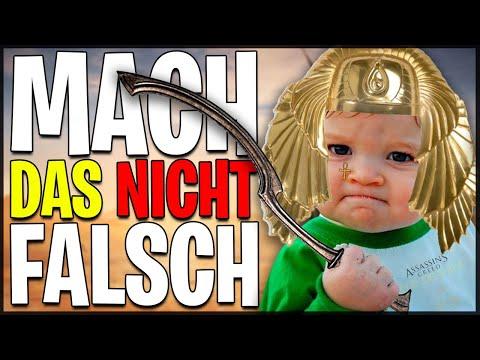 Mach DAS NICHT FALSCH in Assassin's Creed Origins - 17 Anfänger Tipps deutsch german