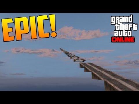 QUIEN ES EL MEJOR!??! INCREIBLE SALTO! - Gameplay GTA 5 Online Funny Moments (Carrera GTA V PS4)