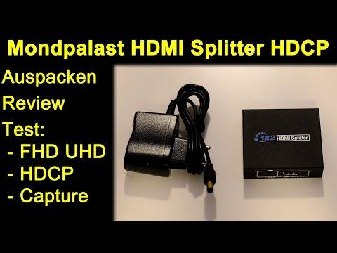 Mondpalast HDMI Splitter - Auspacken Review Test UHD FullHD HDCP entfernt ?