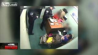 Cop beats up Insane female shoplifter..Scary!!!