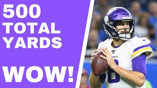 Vikings and Kirk Cousins steamroll Lions defense (Vikings Vent Line)