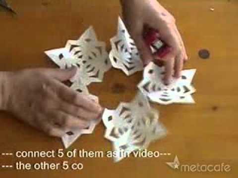 Globo o esfera 3D de copos de nieve de papel-manualidades.flv