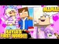 Minecraft PRINCESS BABY KAYLA LEARNS HOW TO TALK!!! w/ LITTLE DONNY & LITTLE LEAH Mp3