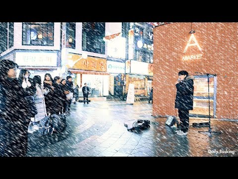 Singing In Huge Snowy Day - The First Snow(Jung Joonil) Amazing Cover