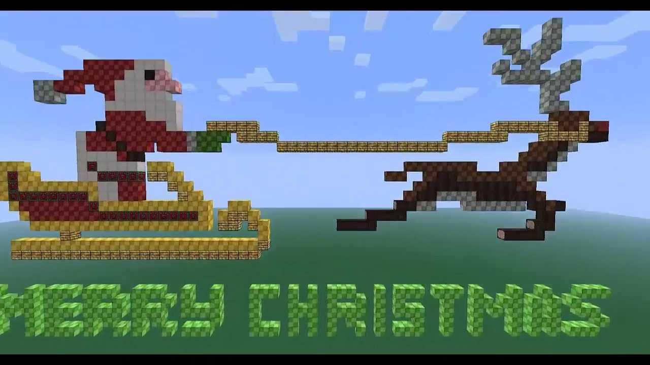 Christmas Pixel Art Minecraft Merry Christmas Pixel Art