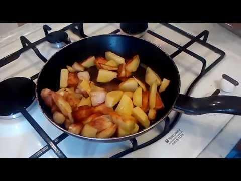 Жаренная картошка с салом! #7