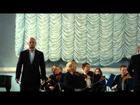 Георгий Нечаев поёт арию Ленского.