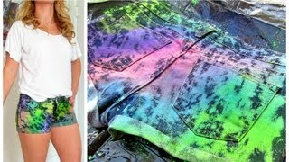 DIY Shorts! Paint Splattered Inspired!
