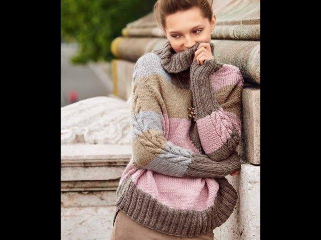 Женские Модные Джемпера и Пуловеры Спицами - 2019 / Women's Fashion Sweaters and Pullovers