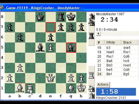 Chess World.net: Blitz #219 vs. MoodyMaster - Sicilian Defense : Smith-Morra gambit (B21)