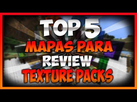 TOP 5 Mapas para review de TexturePacks   MINECRAFT
