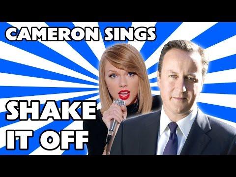 David Cameron singing Shake It Off by Taylor Swift