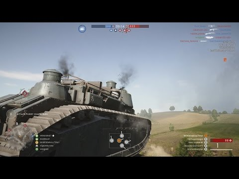 BF1 DLC - NEW TANK BEHEMOTH GAMEPLAY +NEW MAP (Battlefield 1 Soissions Battlefield 1 DLC gameplay)