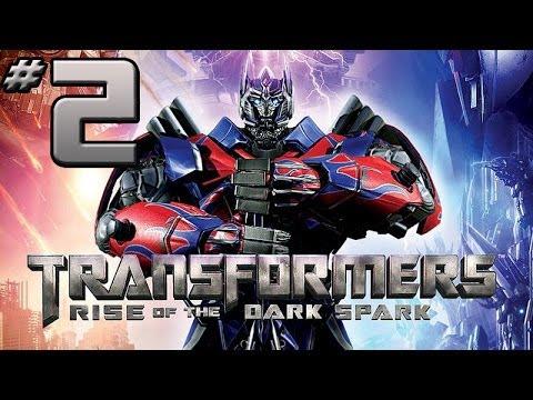 Transformers Rise of the Dark Spark Walkthrough - PART 2 - Hardshell, Kickback & Sharpshot Fight!