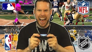 All-American Sports Gaming Challenge! NBA, NFL, MLB & NHL