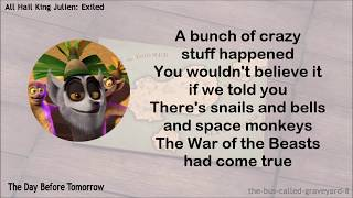 All Hail King Julien: Exiled - ALL Theme Songs w/Lyrics