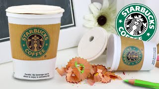 DIY | Back To School Supplies - Starbucks Pencil Sharpener (Coffee Cup)