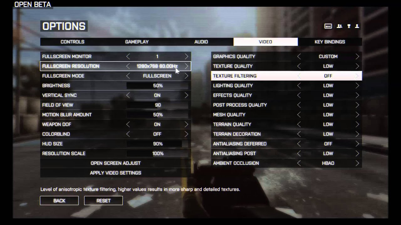Bf4 Graphics Settings Bf4 Beta Settings 50-60 Fps