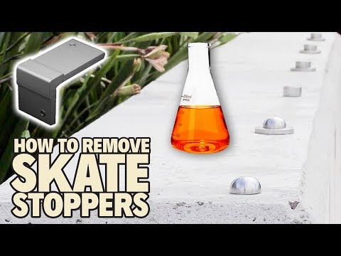 HOW TO REMOVE SKATESTOPPERS! *Highly Illegal*