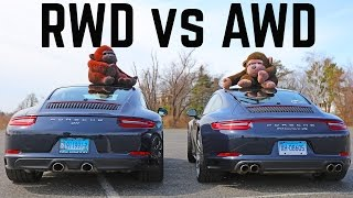 Porsche 911 2 vs 4  RWD vs AWD differences C2S vs C4S