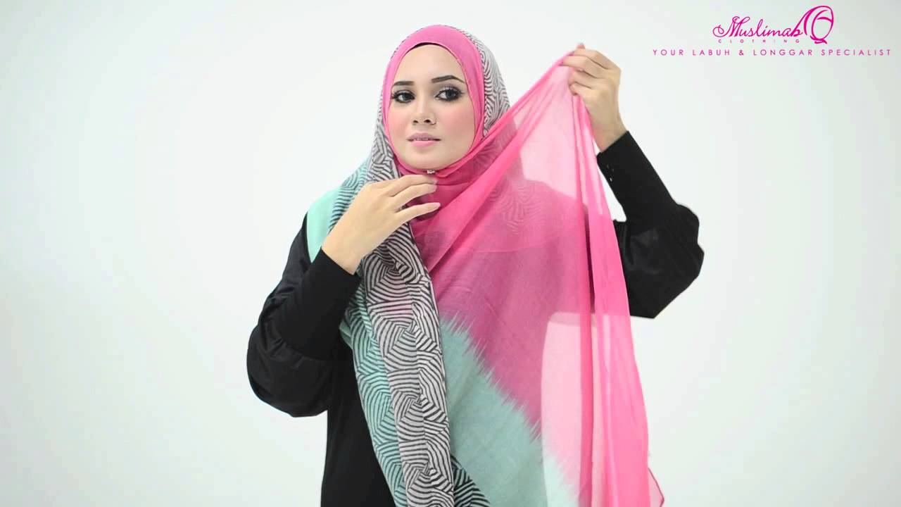 Tutorial 4 Ways To Style Wide Shawl By Muslimah Clothing Couture Youtube