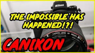 Canon lens on Nikon body with autofocus? Canikon? techart tze01 + sigma mc11