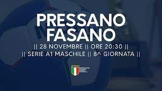 Serie A1M [8^]: Pressano - Fasano 30-20
