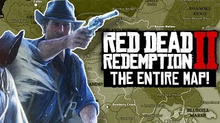 Red Dead Redemption 2 - MEGA MAP DETAILS, BREAKDOWN & LOCATIONS!