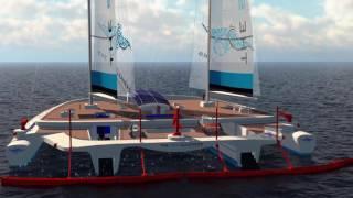 Ambiente: Il quadrimarano a forma di manta che divora i rifiuti in mare