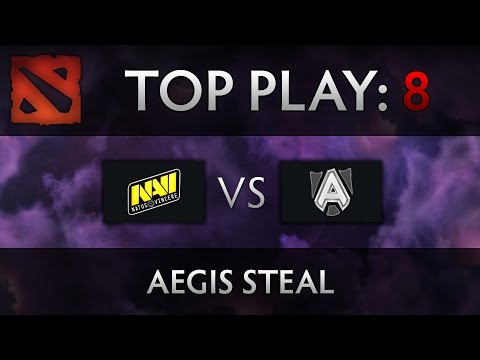 Dota 2 TI4 Top Play - Na'Vi vs Alliance - Aegis Steal