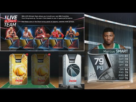 NBA Live 15 Ultimate Team AWESOME CARDS Out the Gate! FREE PACKS! NBA Live 15 Ultimate Team