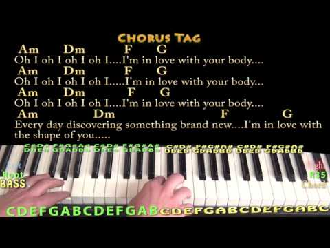 Shape of You (Ed Sheeran) Piano Cover Lesson in Am with Chords/Lyrics #1