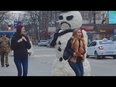 Страшный Снеговик Пранк | Scary Snowman Prank