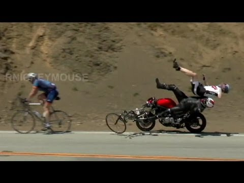 Motorcycle Crash Video: Collision Caught on Tape: Edward's Corner Biker Crashes Into Bicyclists