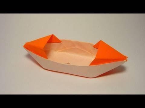 طريقة عمل قارب جميل من الورق عن طريق فكرة طى