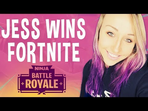 Jess Wins First Fortnite Game!! - Fortnite Battle Royale Gameplay - Ninja