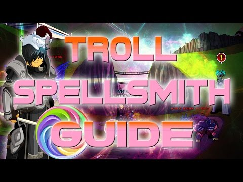 AQW: Troll SpellSmith Class Guide! (How to use. Enchantments. Skill pattern. Solo)
