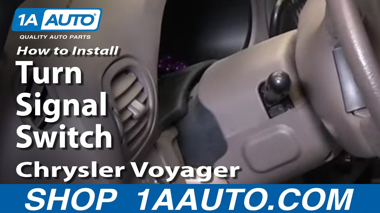 How To Install Replace Turn Signal Switch Dodge Caravan 01