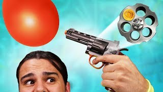 DON'T Pop Your Balloon Challenge! (Airsoft Roulette)