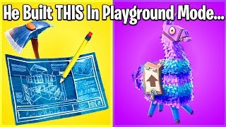 10 Most AMAZING Fortnite Playground Mode Creations!
