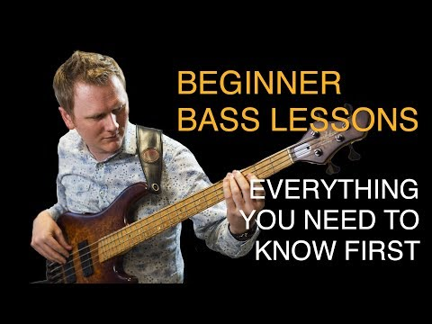 Beginner Bass Lesson 01 - Introduction To The Bass Guitar video