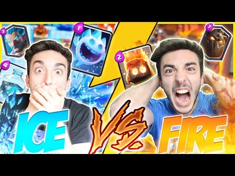ICE vs FIRE DECK CHALLENGE! - CLASH ROYALE ITA w/S7ORMy