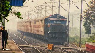 Full speedy Howrah Ranchi Shatabdi express meets utkrisht Darjeeling mail at Gobra