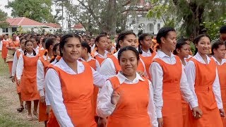 Tailulu College & Free Church of Tonga procession from the Tonga Royal Palace.